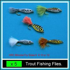 5 x MINNOW FRY CARP COARSE BASS TROUT Fishing on 6, 8 10, 12 hook