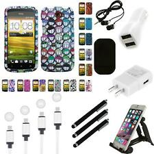For HTC One S Design Snap-On Hard Case Phone Cover Charger
