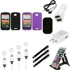 For HTC One VX Silicone Skin Rubber Soft Case Phone Cover Charger