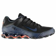 Nike Reax 8 Fitness Training Shoes Mens Black/Blue Gym Workout Trainers Sneakers