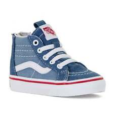 Vans Infants SK8 HI Zip Denim 2 Tone Trainers (Denim)