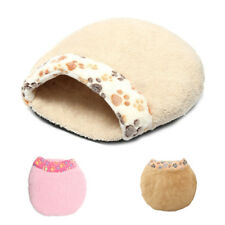 Pet Dog Cat Kitten Puppy Soft Plush Bed Warm Cave House Mat Slippers Snug b V3O4