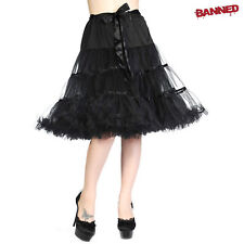 Banned sottoveste NASTRO GONNA NERO SOTTOVESTE GONNA ´n´ ROTOLO ROCKABILLY NUOVO