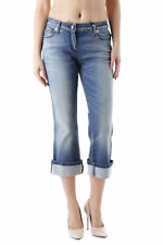 83604jeans donna husky husky donna jeans a pinocchietto made in italy stras…