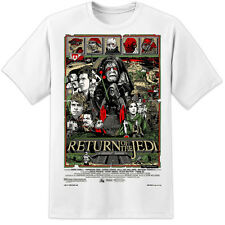 STAR WARS RARE - Retour du Jedi ILLUSTRATION AFFICHE FILM T shirt Rogue Unique