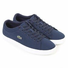 Lacoste Men's Straightset BL 2 Canvas Lace Up Trainer Navy