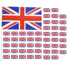 UNION JACK PLASTIC HAND WAVING FLAGS GREAT BRITAIN ROYAL WEDDING LOT DECORATION