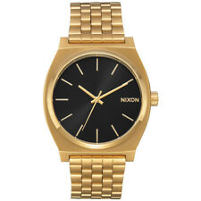 Nixon Herren Uhr Time Teller - All Gold / Black Sun