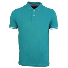 Tommy Hilfiger Camiseta Polo Hombre Verde Azul Liso MW0MW07023 308