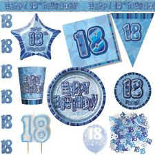 18. Birthday Decoration Party Blue Disposable Dishes Deco Birthday Party Set