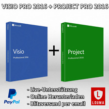 MS Visio 2016 + Project 2016 Professional 32/64 Bit 1-5 PC Product key per Email