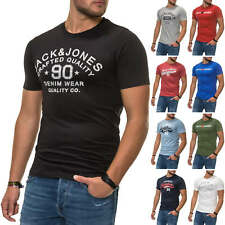 Jack & Jones Herren T-Shirt Print Shirt Kurzarmshirt Casual Color Mix NEU