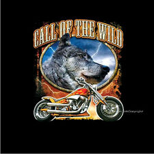 Biker Wolf Custom Classic Harley Choppers Motif Motorcycle Bobber T-Shirt 4032
