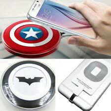 Qi Wireless Charging Pad Charger for Samsung Galaxy S6 S7 S8 iPhone 5 6 7 8 X
