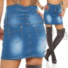 10954 jeansskirt GONNA JEANS MINIGONNA High-Waist gonna blu jeans