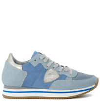 Sneaker Philippe Model Tropez Higher azzurra e argento