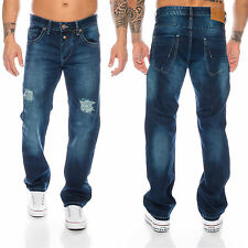 Rock Creek FRESCO Jeans Uomo Pantaloni in Denim Destroyed Slavato Vintage raw
