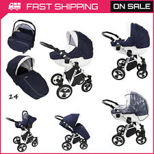 Baby Pram 3in1 Stroller Pushchair Car Seat Carrycot Travel System Buggy EXTRAS