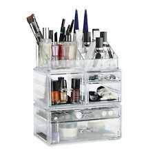 make-up organizer van acryl - cosmetica toren - lippenstifthouder - make up box