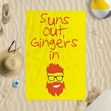 147x99.1cm Suns Out Gingers en Tres Colores Microfibra Toalla Playa Chiste