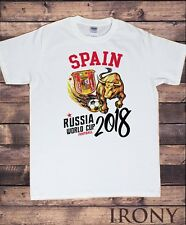 Men's T-Shirt Spain Flag Shield Crust Bull Espana Football World Cup 2018 TS1418