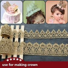 Retro Gold Embroidered Lace Edge Trim Ribbon Clothing Decor Applique DIY Sewing