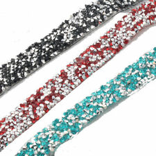 1M Crystal Rhinestone Ribbons Bling Diamante Prune Sewing Adornment Iron  Sew On 1671eb40b
