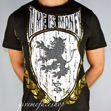 Time Is Money Rasta León Camiseta, Supreme Hip Hop Grafiti Bling Retro Hombre