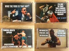 Conor McGregor UFC Notorious Various Famous Quotes ~ Fridge Magnets / Mini Stand