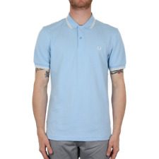 X Fred Perry Twin Tipped Polo Shirt - Sky Blue (Fred Perry Limited)