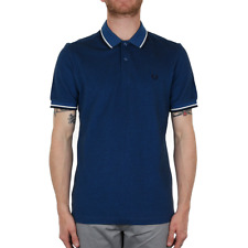 X Fred Perry Twin Tipped Polo Shirt - Prince Carbon Oxford (Fred Perry Limited)