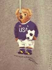 Polo Ralph Lauren World Cup 2018 USA Soccer Bear Pullover Hoodie in Gray