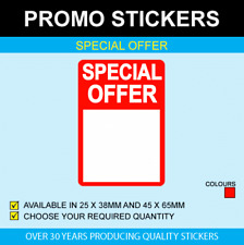 Special Offer Stickers - Available In 2 Sizes