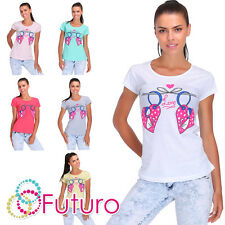 T-SHIRT DEL PARTITO stampa Love Girocollo Manica Corta 100% top in cotone