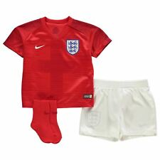 Nike England Away Baby Kit 2018 Infants Red Football Soccer Top Shirt Strip