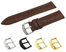 For Tissot Watch Brown Genuine Leather Band Strap Buckle/Clasp 18 19 20 21 22mm