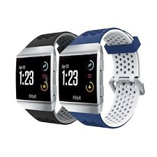 Tuff-Luv TPU Dual Colour Air-Cool Silicone Strap / Wristband for FitBit Ionic