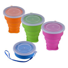 Portable Silicone Telescopic Drinking Collapsible Folding Cup Camping Picnic