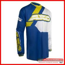 Maglia Axo Off Road Moto Cross Fuoristrada Trans-Am Jersey BY Blu Giallo