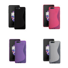 For OnePlus 5 S-Line Silicone Gel In Various Colours Cover Case