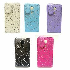 FOR SONY XPERIA SP BLING GLITTER IN VARIOUS COLOURS PU LEATHER FLIP CASE COVER