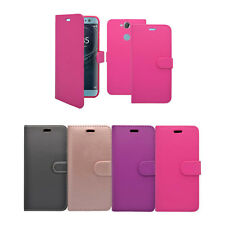 For Sony Xperia XA2 In Various Colours Wallet Book Flip Cover Case