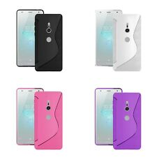For Sony Xperia XZ2 Compact  S-Line Silicone Gel In Various Colour Cover Case