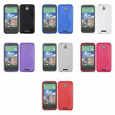 FOR HTC DESIRE 510 S-LINE SILICONE GEL AND SCREEN PROTECTOR CASE COVER