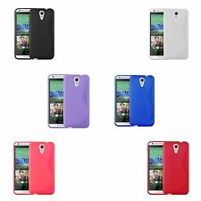 FOR HTC DESIRE 620 TPU S-LINE SILICONE GEL AND SCREEN PROTECTOR CASE COVER