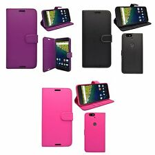FOR HUAWEI NEXUS 6P WALLET IN VARIOUS COLOURS COVER CASE