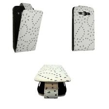WHITE BLING DIAMOND GLITTER PU LEATHER FLIP CASE FOR SAMSUNG GALAXY ACE3 S7270