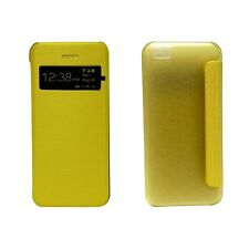 CASE FOR APPLE IPHONE 5C YELLOW BOOK FLIP CASE VIEW WINDOW PU LEATHER COVER