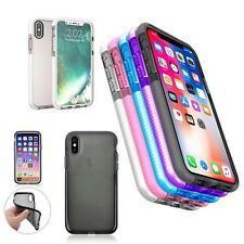 For Apple iPhone X Check Pattern TPU In Various Colours Silicone Gel Case Cover