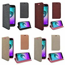 FOR SAMSUNG GALAXY J3 2016 MAGNETIC GLITTER WALLET VARIOUS COLOURS COVER CASE